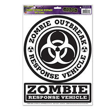 ZOMBIE OUTBREAK RESPONSE VEHICLE wall stickers 2 decals teen room decor poster