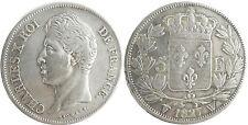 CHARLES  X  ,  5  FRANCS  ARGENT  1827  W  LILLE