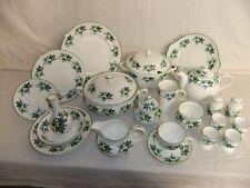 C4 Porcelain Kirsty Jane China Staffordshire - Ivy Leaf, green edge - 7A5B