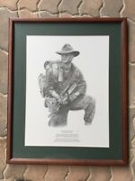 Conway Brown Digger Heir to ANZAC Signed Print Framed
