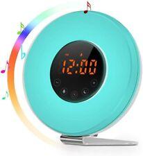 Sunrise Alarm Clock - Joyful Heart Best Wake Up Light with change of 7 colors.
