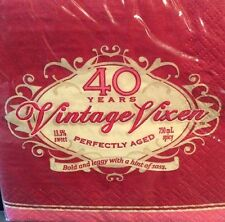 40th Birthday Paper Napkin Vintage Vixen Beverage Bold Sassy Perfectly Aged 16