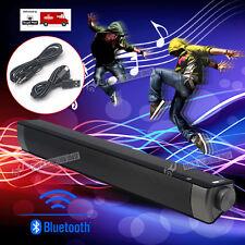 TV Theater Soundbar Wireless Bluetooth Sound Bar Speaker w/Built-in Subwoofer