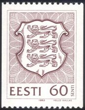 Estonia 1993 State Arms/Lions/Coats-of-Arms/Heraldry/Animals 1v coil (ee1078)