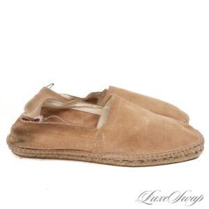 Castaner Made in Spain Camel Suede Jute Sole Summer Espadrilles Loafers Shoes 41