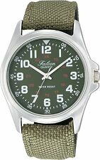 100% Authentic! CITIZEN Q&Q Watch Falcon VW86-851 Green Men's Watch New Japan