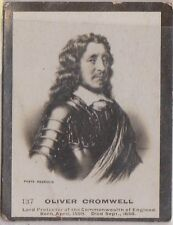 (H44-29) 1900 GB anonymous issue Cigarette card Oliver Cromwell no.137