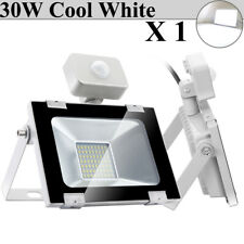 30W PIR Motion Sensor LED Flood Light Cool White Shop Outdoor Security Lighting