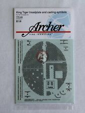 Archer 1/16 King Tiger Treadplate and Casting Marks (for Trumpeter) AR88027