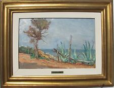 Aleardo GALBUSERA (Lugano 1898 - Milano 1973) Sicilia OLIO su masonite cm 22x33