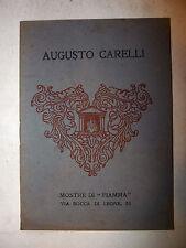 Catalogo Arte Pittura - Mostra Personale Augusto Carelli 1931 FIAMMA Roma illus.