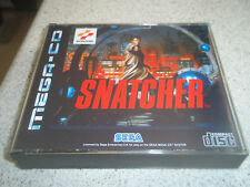 SNATCHER.SEGA MEGA CD PAL .EMPTY REPLACEMENT CASE+INLAYS ONLY.