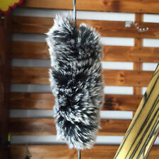2pk Rex Rabbit Fur Balls Bow String Silencers, Recurve or Longbow
