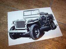 Photo de presse / Press Photograph FORD Jeep GPW //