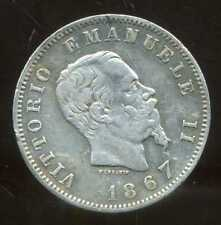 ITALIE  ITALY  1 lira 1867 M BN   ( ARGENT  SILVER )