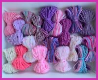 💖DK Yarn Wool Job Lot Double Knitting Crochet Crafts Toys Pompom Macrame Bundle