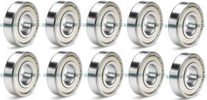 608 - 699 Pack 10 Miniature ZZ C3 Metal Shielded Metric Bearings - HIGH QUALITY