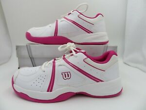 Wilson Envy Shoes Sneakers White Pink Trim