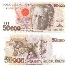 Brazil 50000 Cruzeiros ND (1992) P-234 Banknotes UNC
