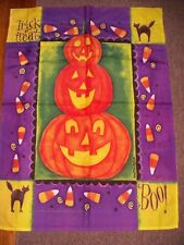 FULL SIZE  DECORATIVE HALLOWEEN GARDEN FLAG, CUTE, EUC