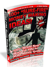 """NEW! 100+ """"SURE-FIRE"""" MONEY MAKING IDEAS! PDF EBOOK FREE SHIPPING  RESALE RIGHTS"""