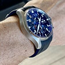 21mm Vulcanized Rubber Strap IWC Pilot Watches BLACK & BLUE PLEASE READ BELOW