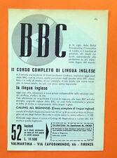 C577-Advertising Pubblicità-1959 - BBC CORSO COMPLETO DI LINGUA INGLESE