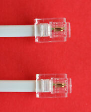 "RJ11 to RJ11 ""4M"" ADSL 2 Wire Broadband Cable White for Router to ADSL Filter"