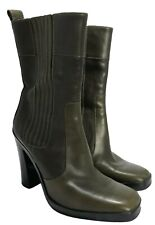 BALENCIAGA OLIVE GREEN ANKLE BOOTS, 36.5, $1100