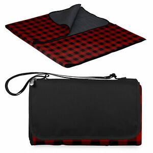 ONIVA - a Picnic Time Brand Outdoor Picnic Blanket Tote XL, Red/Black Buffalo...