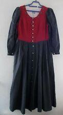 Damen Trachten Dirndl Kleid rot anthrazit Gr 42