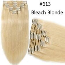 Thick 200g Double Weft Clip In Remy Real Human Hair Extension Full Head US F180
