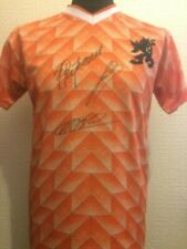 Netherlands Retro 1988 Shirt Signed Van Basten Gullit Rijkaard With Guarantee