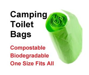 Portable Composting Biodegradable Bags Only - Clean Camping Festival Home Toilet