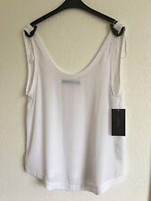 Zara White Low Back Sheer Vest Style Top Size Medium BNWT