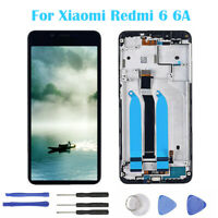 New For Xiaomi Redmi 6 6A LCD Display Touch Screen Digitizer Assembly + Frame