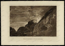 Druck-Stahlstich-Engraving-John-Ruskin-View of Interlaken-Strom Gathering-69