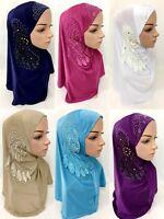 Women Hijab Muslim Scarves Islamic Wrap Scarf Soft Long Shawls Headwear Caps