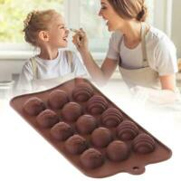 Silicone 15 Egg Chocolate Mould Easter Eggs DIY Baking FAST Tools SHIP S1C8