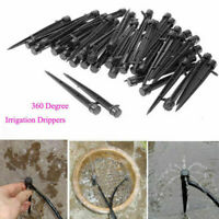 50pcs Micro Bubbler Drip Irrigation Adjustable Emitter Stake Water Drippers US