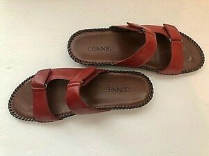 """""""Connie"""" Women's Red Size 8 Comfort Adjustable Strap Sandals Slides. Beautiful!"""