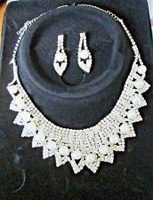 Dichiarazione collare collana Orecchini Set Effetto Guscio Colore Oro Catena Boho Tribal