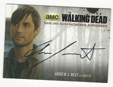 Andrew J. West as Gareth WALKING DEAD Season 4 Part 1 Autograph Auto Card AJW2