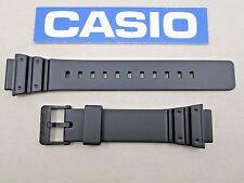 Genuine Casio MRW200H MRW-200H black resin watch band strap 18mm lug size