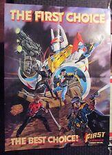 "1987 FIRST COMICS Promo Poster FN 6.0 Badger Grim Jack Nexus 18x24"""