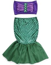 NEW Child's Girls Mermaid Costume Ariel Purple Green - Size 2/3