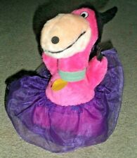RARE The Flintstones Plush Dino Purple Dinosaur Nanco 1989 Halloween Witch