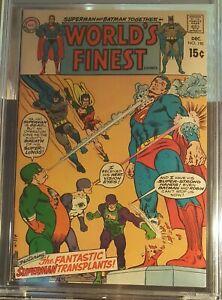 Certified DC WORLDS FINEST #190 (1969) CBCS 9.0 VF/NM SUPERMAN BATMAN