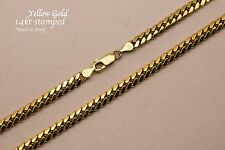 """14k Solid Yellow Gold  Miami Cuban Link Chain Necklace 5mm Sz 20""""-36"""""""