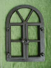 Gussfenster schwarz Stallfenster mit Bogen und Flügel 39x59 Fe1002s